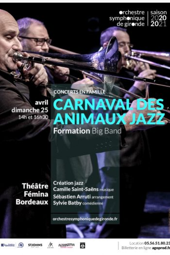 Affiche spectacle carnaval des animaux jazz