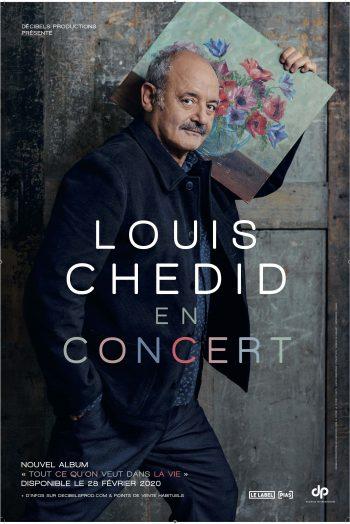 Affiche concert Louis Chedid