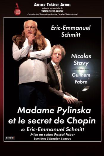 Affiche madame Pylinska et le secret de chopin pièce de théâtre