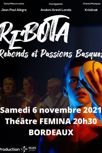 Revota affichage théâtre femina culture basque pelote danse musique chant